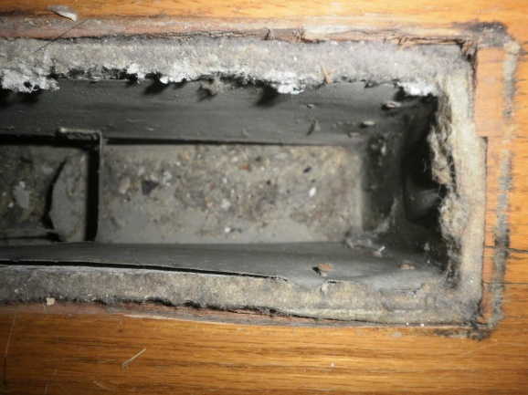 Removing Asbestos From Floor Vent Register And Duct