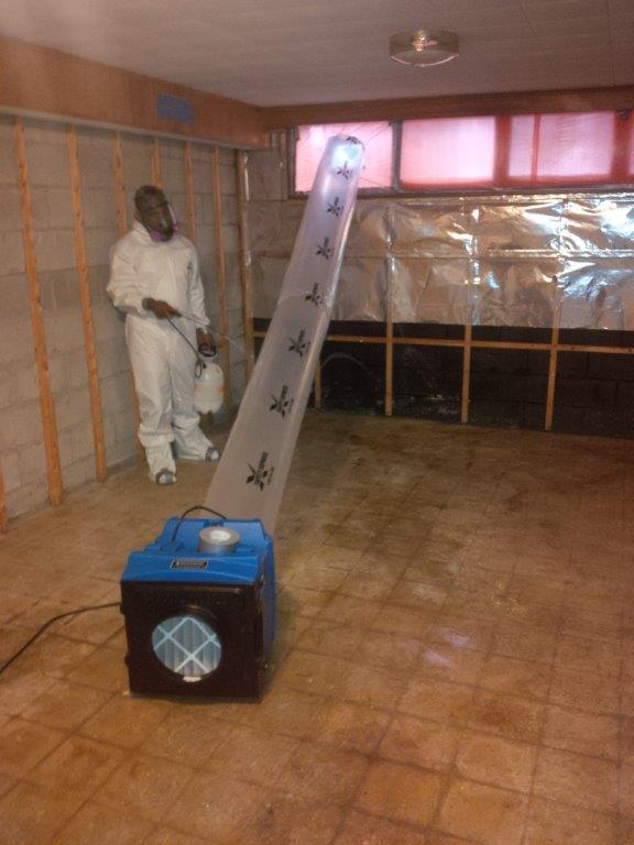 Negative Air & Air Scrubber for Mold Removal Services